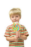 Child and lollipop Stock Photography