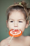 Child with a lollipop Royalty Free Stock Images