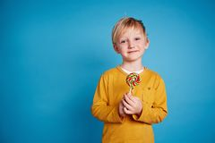 Child with lollipop Royalty Free Stock Photography