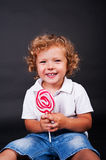 Child with lollipop Royalty Free Stock Image