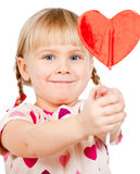 Child with lollypop Royalty Free Stock Photos