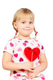 Child with lollypop Stock Photo