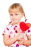 Child with lollypop Royalty Free Stock Images