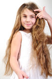 Child with long hair Stock Photos