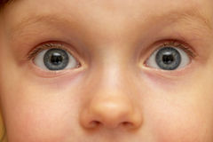 Child look. Detailed macro shot (face fragment Royalty Free Stock Images