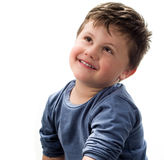 Child with look of hope Royalty Free Stock Image