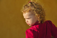 Child Looking Around Stock Images