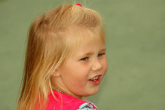 Child looking back Stock Images