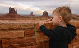 Child looking at Monument Valley Royalty Free Stock Photography