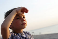 Child looking out Stock Image