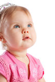 Child looking up stock image
