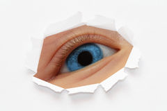Blue eye Royalty Free Stock Photo