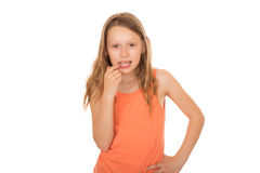 Child lost a tooth Royalty Free Stock Images