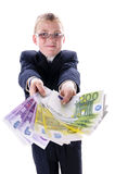 Child with a lot of money Royalty Free Stock Image