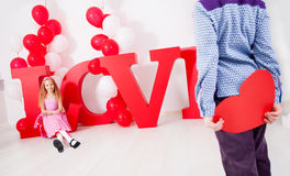 Child in love Royalty Free Stock Images