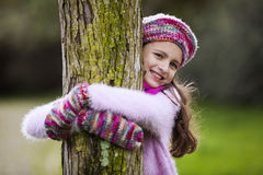Child loving nature Royalty Free Stock Photography
