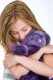 Child Loving Teddy Bear Royalty Free Stock Image
