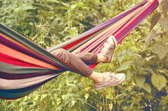 Child Lying In A Hammock Royalty Free Stock Photo