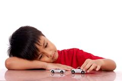 Child lying on the table Stock Photos