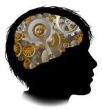 Child Machine Workings Gears Cogs Brain Royalty Free Stock Photos