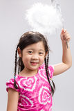 Child with Magic Wand Background / Child with Magic Wand / Child with Magic Wand on  White Background Stock Image