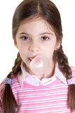 Child make a bubble Stock Photography