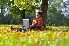 Child Make Fun With Laptop