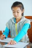 Child make homework Stock Photography
