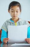 Child make homework Royalty Free Stock Image