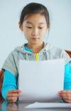 Child make homework Royalty Free Stock Image