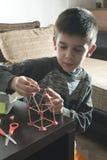Child make house Stock Photo