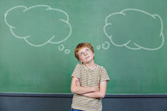 Child making a decision in school Royalty Free Stock Photography