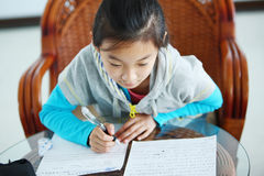 Child making homework Royalty Free Stock Images