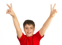 Child Making Peace Sign Royalty Free Stock Photo
