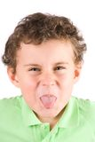 Child making silly faces Royalty Free Stock Photography