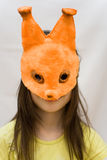 Child mask squirrel Stock Photos