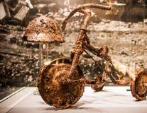 Child& massacrado x27; triciclo de s, museu do memorial da paz de Hiroshima foto de stock