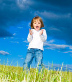 Child in the meadow royalty free stock photography