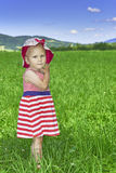 Child in the meadow Royalty Free Stock Images