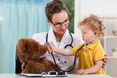 Child during medical appointment Stock Photo