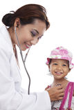Child medical check-up Stock Photos