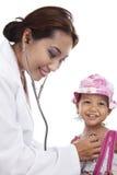 Child medical check-up Stock Photos