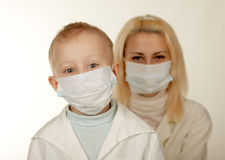 Child and medical doctor in mask Royalty Free Stock Image