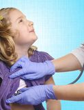 Child medical examination. Royalty Free Stock Photo