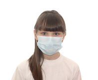 The child in a medical mask. Isolated object Stock Photo