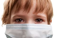 Child in medicine mask Royalty Free Stock Photo