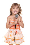 Child with microphone Royalty Free Stock Photo