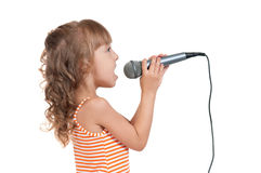 Child with microphone Royalty Free Stock Photography