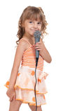 Child with microphone Royalty Free Stock Image