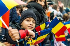 Child on military parade Stock Images
